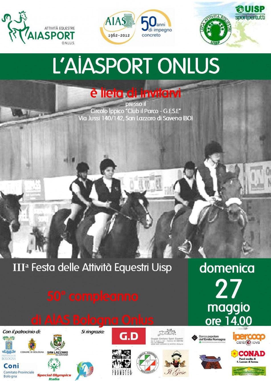 locandina festa attività equestri